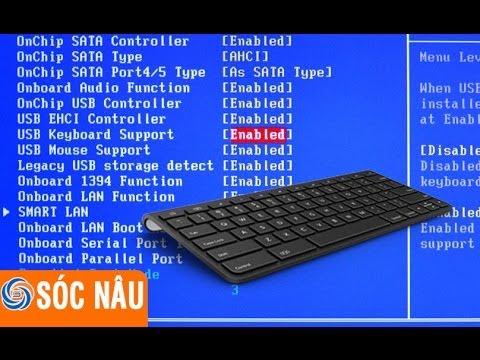 Không nhận bàn phím USB khi boot vào Windows