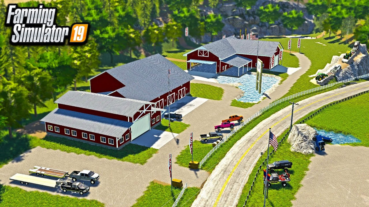 EXPANDING OUR TRUCK DEALERSHIP COMPOUND! (NEW BUILDING, & TRACK) | FARMING SIMULATOR 2019