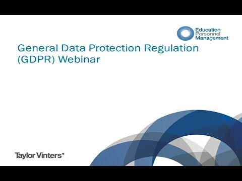 What does the General Data Protection Regulation mean for the education sector?