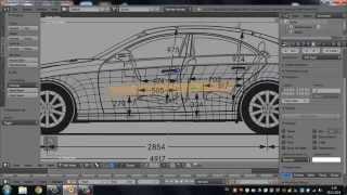 Car modeling in Blender (моделирование автомобиля)  Timelapse