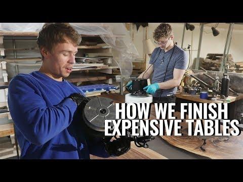 Finishing Tips for Resin Tables