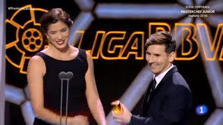 Garbiñe Muguruza reward Best Player to Lionel Messi in LFP Awards 2014-15