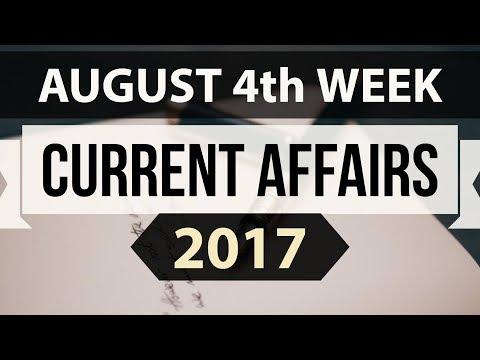 (English) August 2017 4th week part 1 current affairs - IBPS PO,IAS,CLAT,SBI,CHSL,SSC CGL,UPSC,LDC