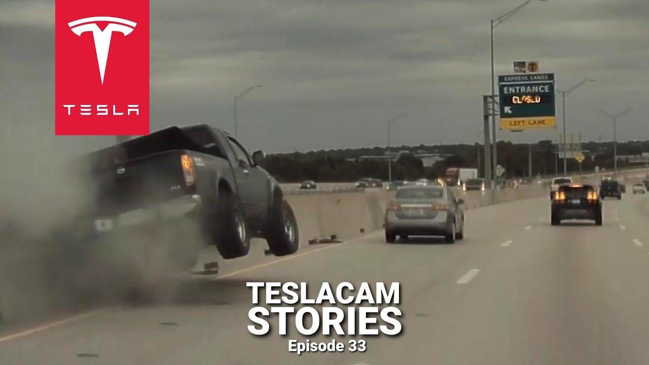 TESLA MODEL Y SENDS PICKUP FLYING | TESLACAM STORIES #33