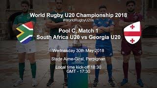 Live: World Rugby U20 Championship - South Africa U20 v Georgia U20