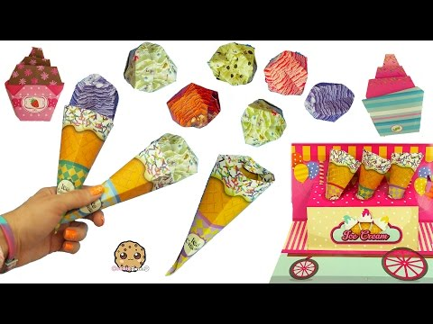 Ice Cream & Cupcakes Easy Super Simple Paper Craft Origami from Dollar Tree Store