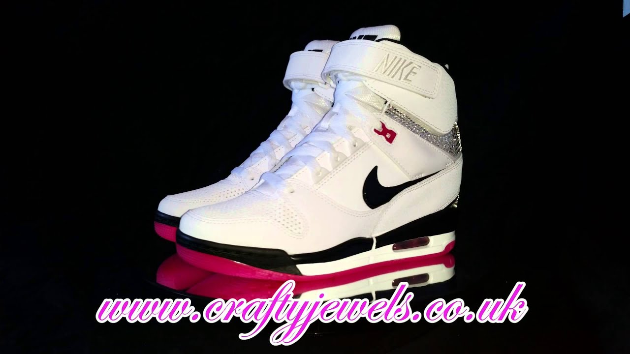 Crystal Nike Air Revolution Sky Hi SWAROVSKI - YouTube 948240fec