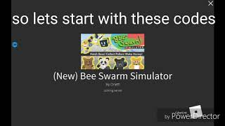 Codes for bee swarm simulator/roblox