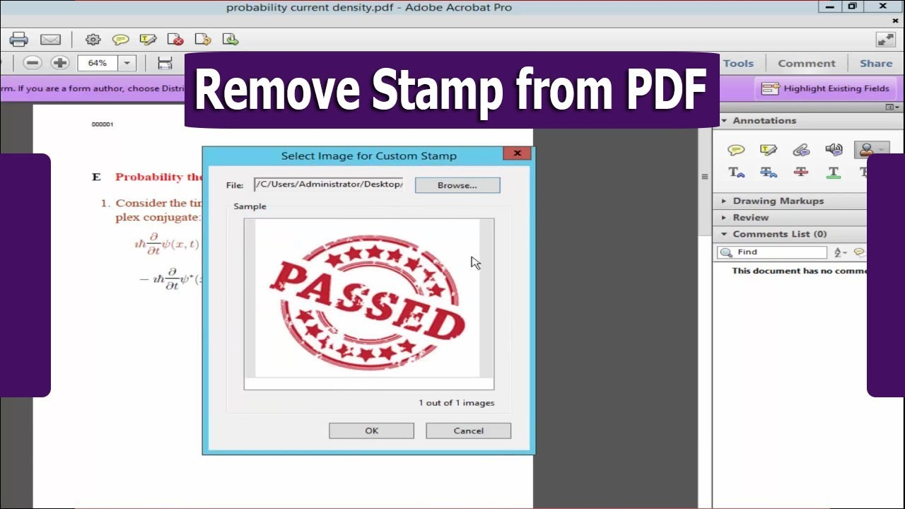 How To Delete Or Remove Stamp From PDF Document By Using Adobe Acrobat Pro