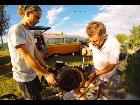 Hippie Van Man 1979 Volkswagen Bus Engine Rebuild