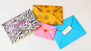 Süßen Origami Umschlag falten   Super einfach & schnell   Liebesbriefe gestalten   Gutschein