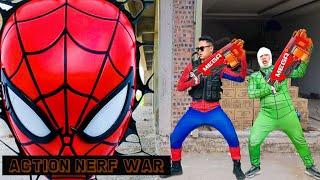 Action Nerf War: Spider Man S.W.A.T X Warriors Nerf Guns Fight Crime Group Revenge Enemies