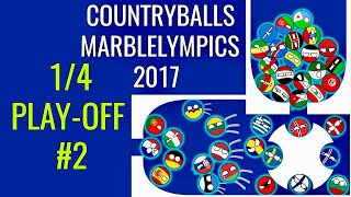 """QUARTER-FINAL #2 Countryballs Marble Race: Marblelympics 2017 """"1/4 PLAY-OFF #2"""" 