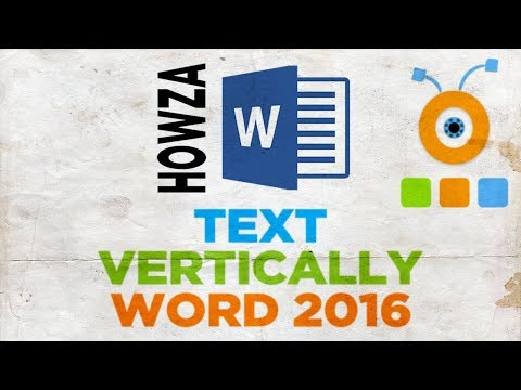 How To Type Text Vertically In Word 2016