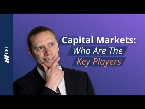 Overview of the Capital Markets: Key Players | Corporate Finance Institute