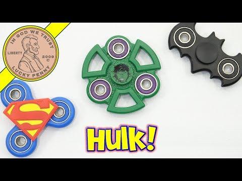 Zuru Fidget Spinners - Hulk - Batman - Spider-Man - Superman - Giveaway!