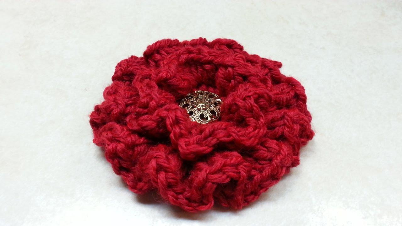 Crochet Ruffle Flower Pattern : CROCHET How to #Crochet Ruffle Flower #TUTORIAL #134 LEARN ...