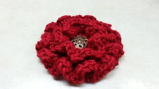 CROCHET How to #Crochet Ruffle Flower #TUTORIAL #134 LEARN CROCHET DYI