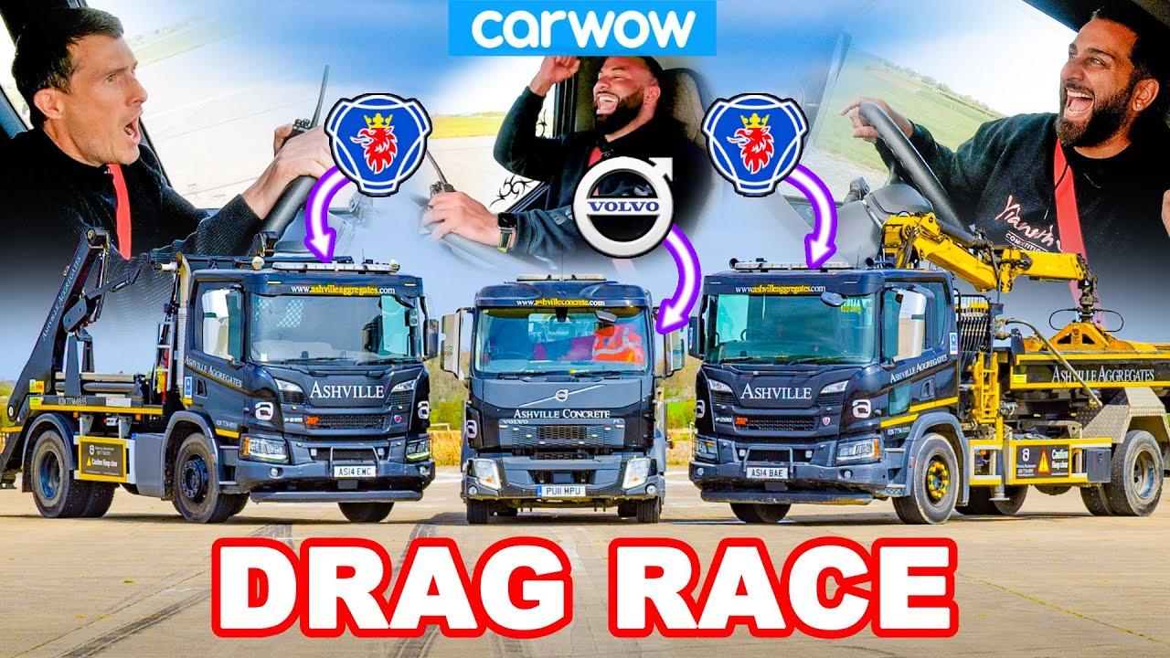 Volvo vs Scania: DRAG RACE Truk