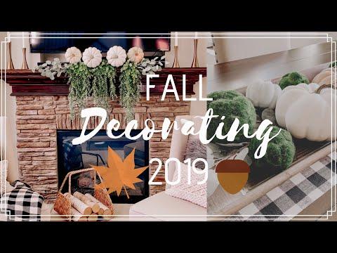 FALL DECORATE WITH ME 2019   FALL DECOR IDEAS   MODERN FARMHOUSE