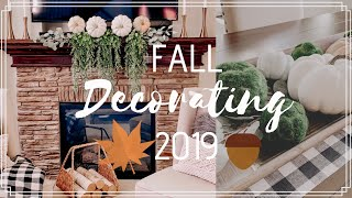 FALL DECORATE WITH ME 2019 | FALL DECOR IDEAS | MODERN FARMHOUSE