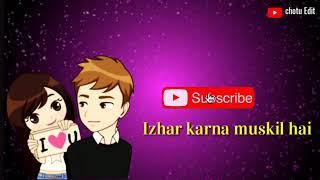 O yara Dil Lagana status song
