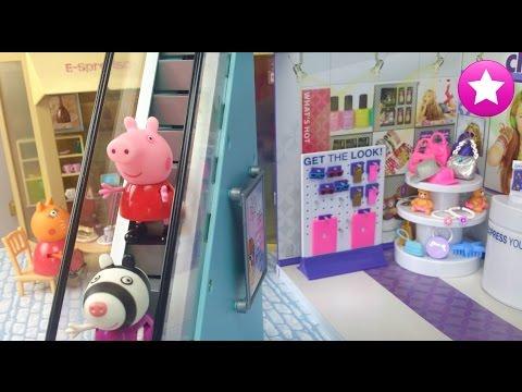 PEPPA PIG BROMAS y COMPRAS con sus amigos en el Centro Comercial #66