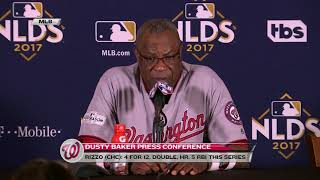 Dusty Baker speaks after 2-1 loss in Game 3 on NLDS
