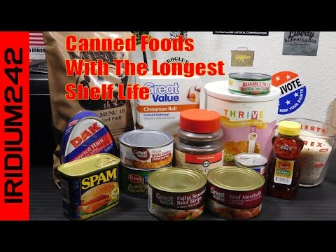 Canned Foods With Longest Shelf Life For Prepping
