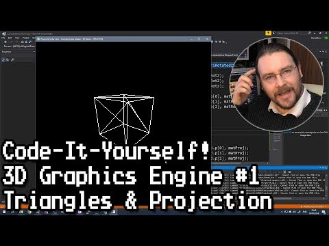 Code-It-Yourself! 3D Graphics Engine Part #1 - Triangles & Projection