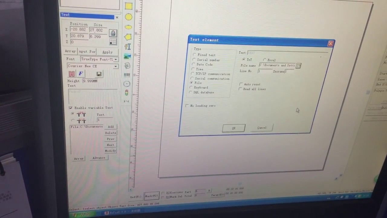 How to import Excel and Text file into EzCad, More efficient