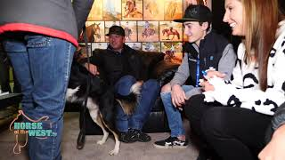 Horse of the West Luca Fappani meets the dog Brady