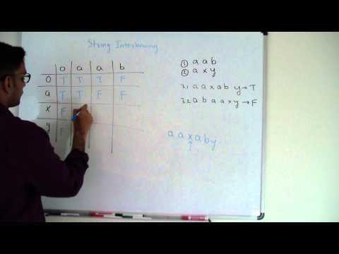 String Interleaving Dynamic Programming