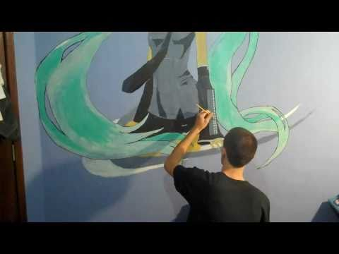 Hatsune Miku - Lyre-horn 1:1 Scale Wall Painting