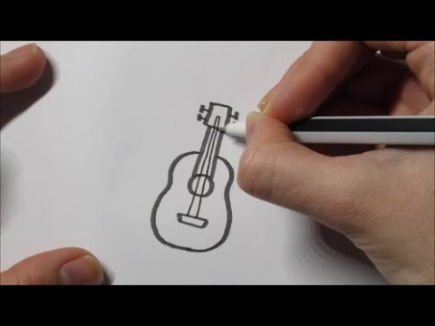 how to draw a guitar youtube