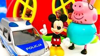SWINKA PEPPA i MYSZKA MIKI po Polsku - Glodny Tata Swinka szuka jedzenia. Mickey Mouse / Peppa Pig