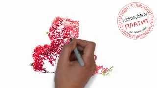 Как нарисовать букет красных роз(Как нарисовать картинку поэтапно карандашом за короткий промежуток времени. Видео рассказывает о том,..., 2014-07-17T04:57:35.000Z)
