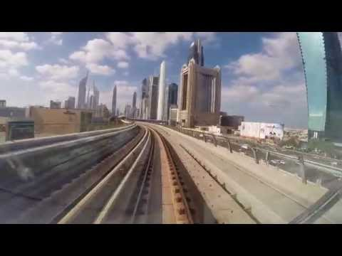 Dubai Metro Red Line in HD (speed x8)