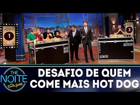 Quem come mais hot dog? The Noite x Ricardo Corbucci | The Noite (27/08/18)
