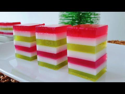 圣诞燕菜 ❤ How to make Christmas Jelly for Christmas Party  #littleduckkitchen
