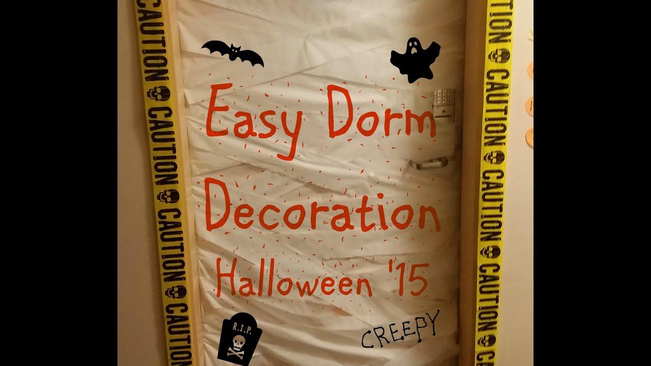 Easy Halloween Dorm Decoration - YouTube