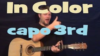 In Color (Jamey Johnson) Easy Guitar Strum How to Play Fingerstyle Tutorial
