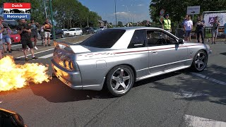 Nissan Skyline GT-R TAKEOVER Supercar Meet! - StreetGasm Ride Out