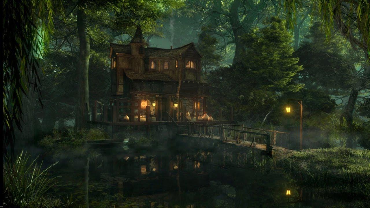 Fall Woods Wallpaper Swamp Sounds At Night Frogs Owls Crickets Light Rain