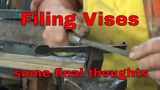 Filing Vise - Final thoughts on the project - blacksmith tools