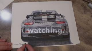 Porsche 911 GT3 speed drawing.