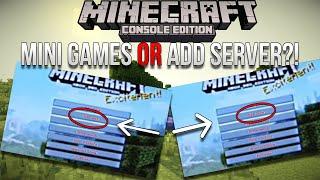 minecraft xbox playstation 4j studios mini games screenshot investigation   mini games or server