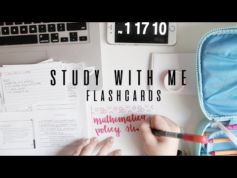 study with me: flashcards