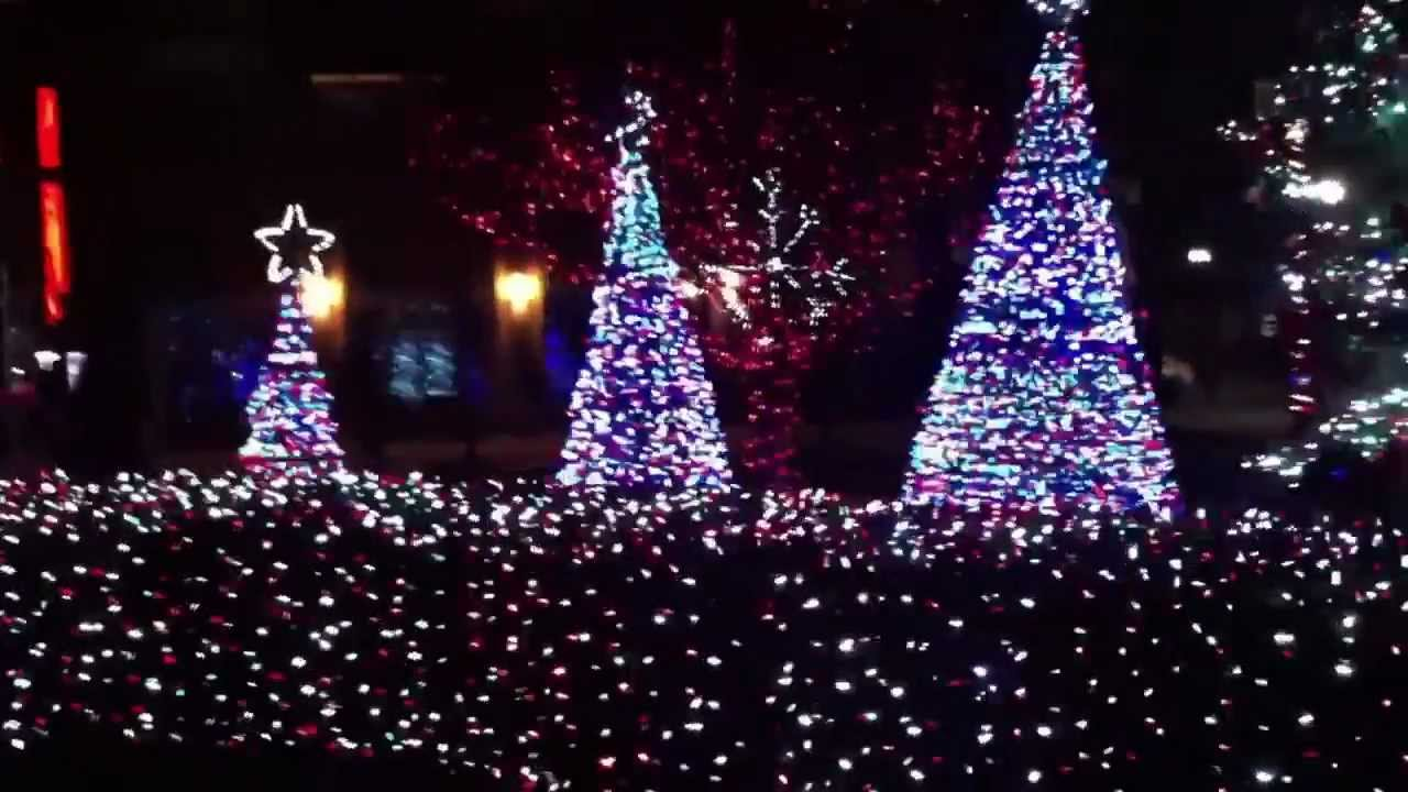 jersey city new jersey newport town square christmas light show hd 2012