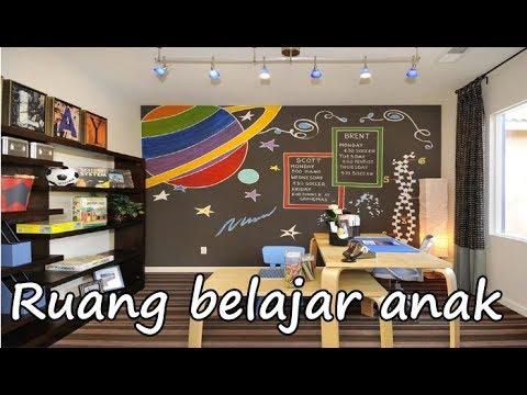 desain interior dekorasi ruang belajar anak sederhana